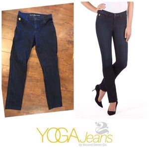 SECOND YOGA JEANS | Straight Leg Dark Denim 25